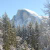 Half Dome dusted with Powdered Sugar