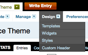Custom Header Menu